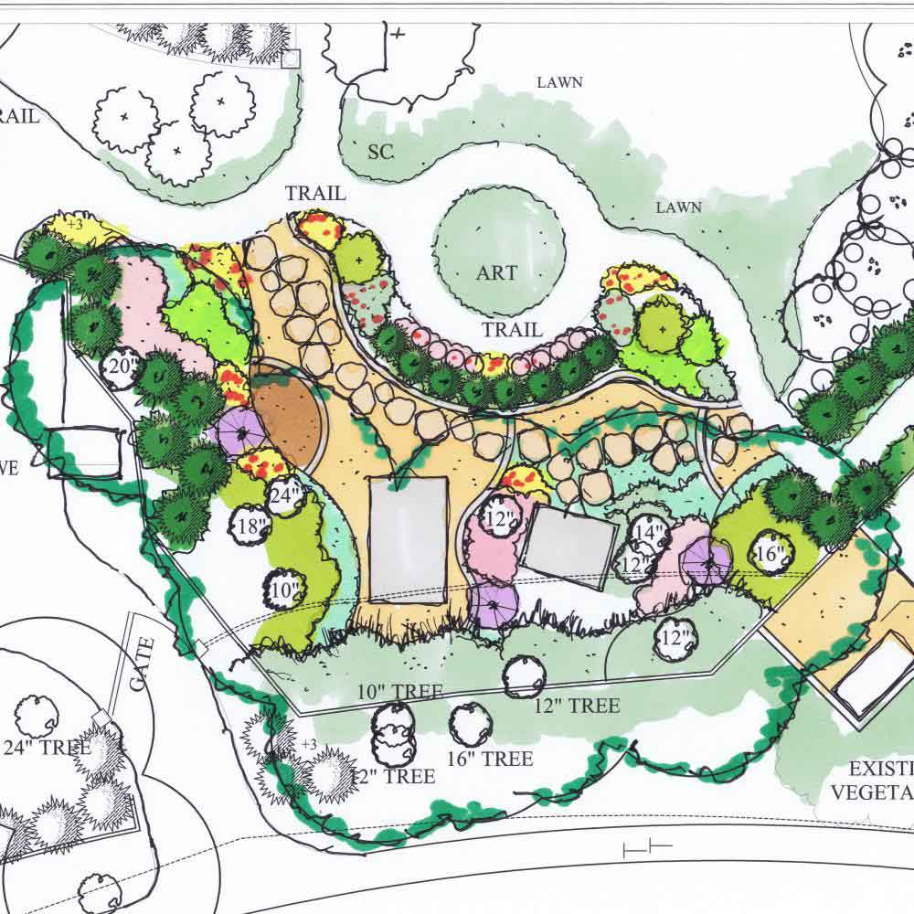 Landscape architect master plans blueprints in dallas landscape master plans malvernweather Gallery