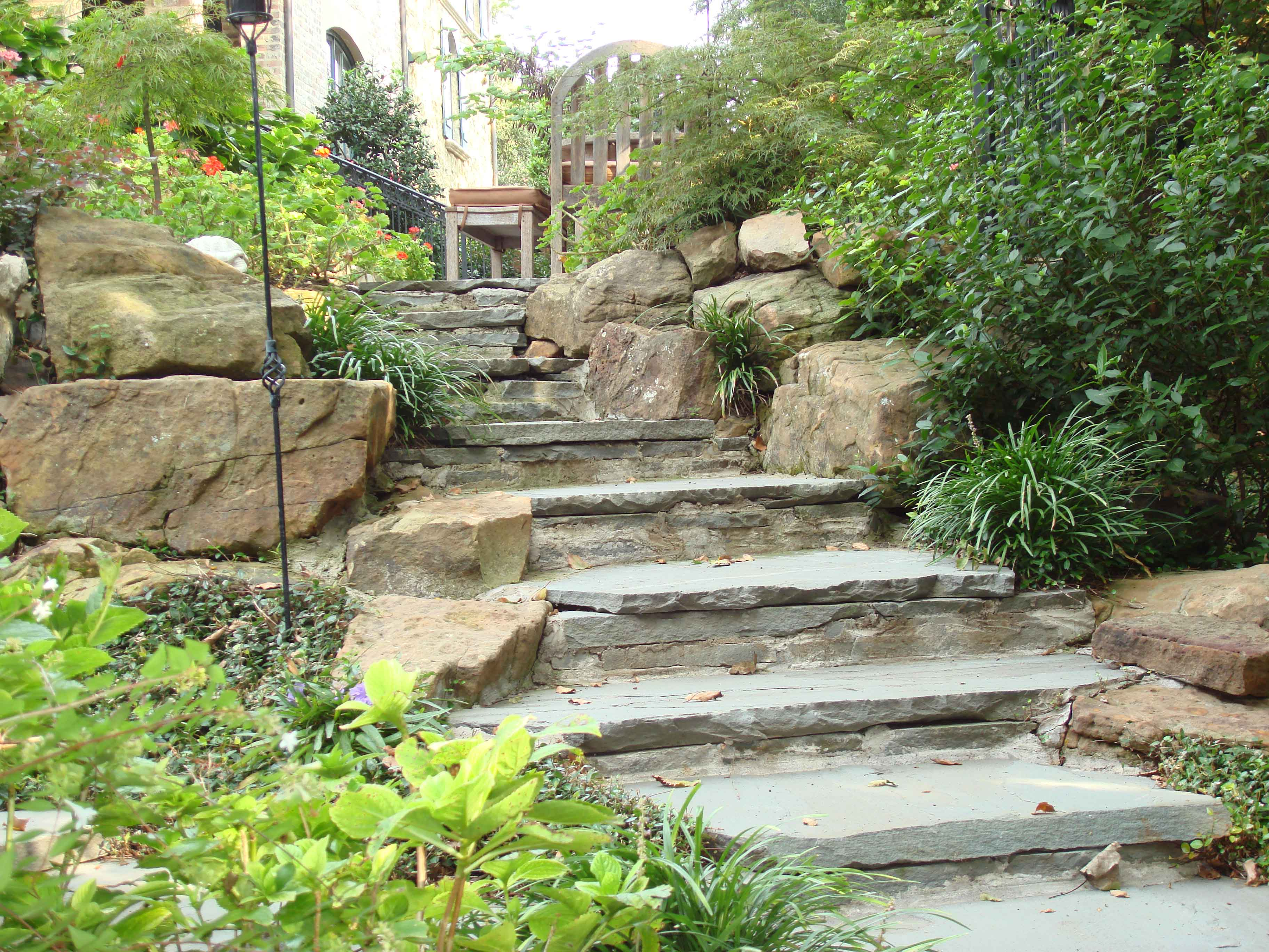 Landscape rock features and hardscapes in dallas for Landscaping rocks dallas